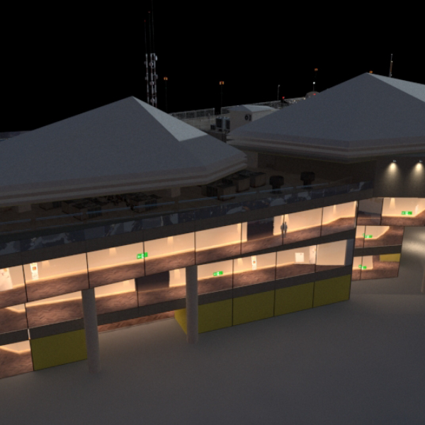 Original 3DCG Movie -museum exterior-