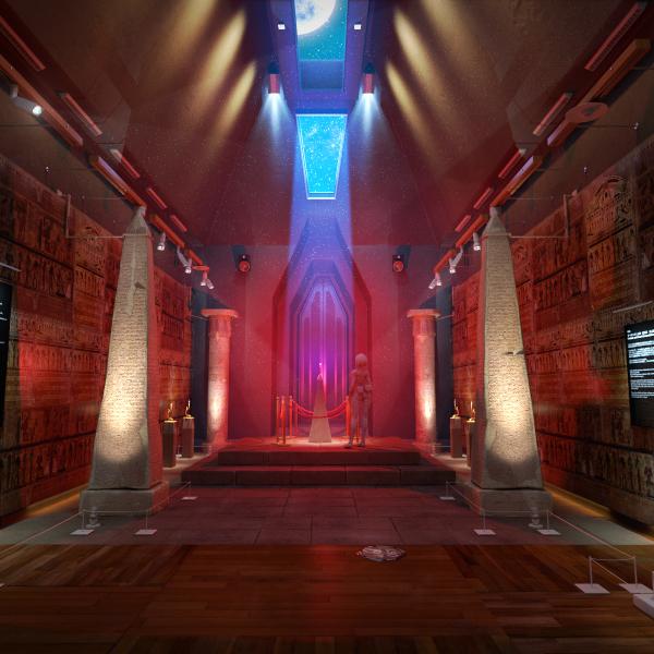 Original 3DCG Movie -museum interior-