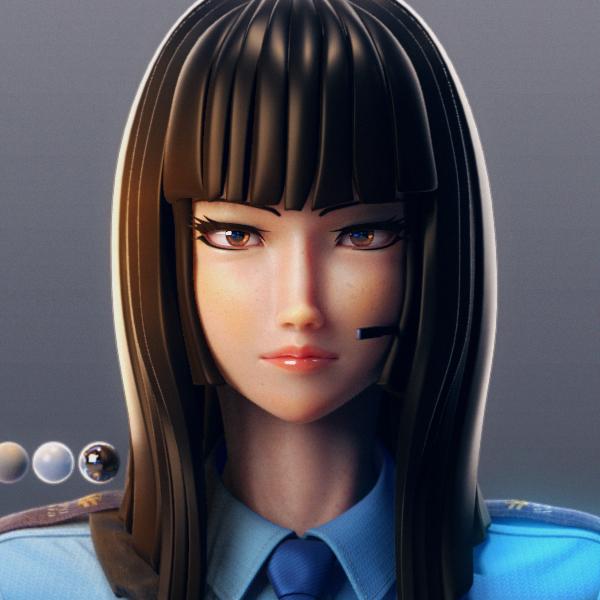 Original 3DCG Movie -character1:Ayame-